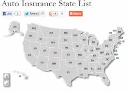 auto insurance state list