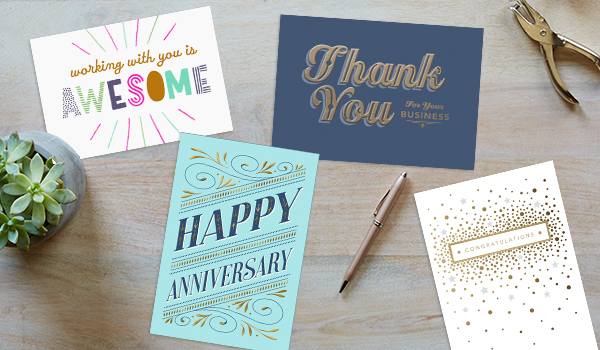 By selecting a Hallmark card with a cover that states the reason, then all you need to add is your personal touch.