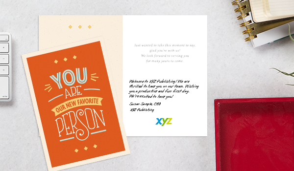 Create enduring and rewarding relationships with your customers and employees by sending personal notes in a Hallmark card.