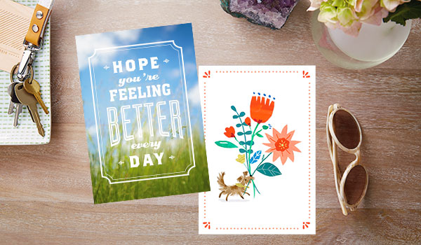 Hallmark Business care and concern cards come in every style, from bold lettering over photography to sweet illustrations.