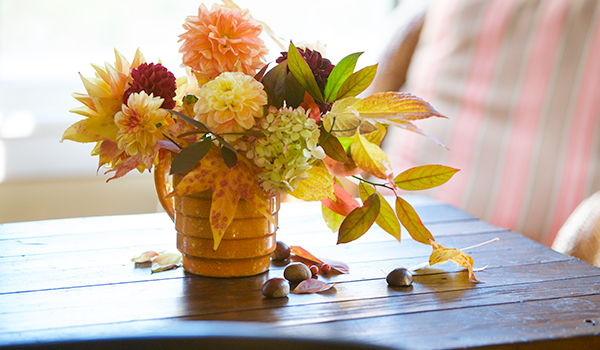 Flowers on a table.