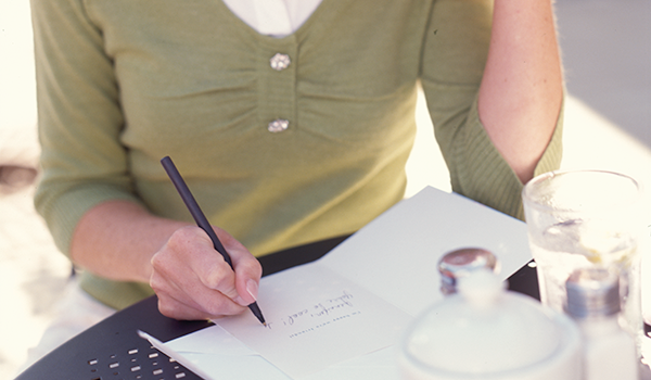 Write a brief but thoughtful note showing support for your employee in your Hallmark card.
