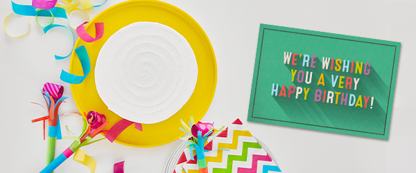 Known for quality and instantly recognized, Hallmark business birthday cards are a memorable celebration by themselves.