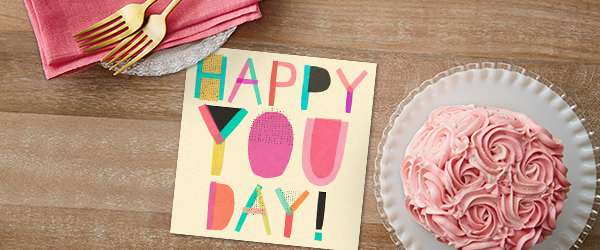 Hallmark business birthday greetings come in several designs to make your wish memorable, even when delivered with treats.