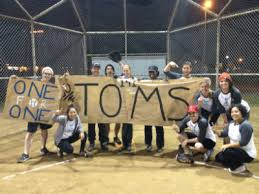 Toms shoes softball team