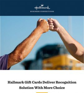 hallmark cards recognition program case study