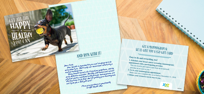 Energetic photography, crafted editorial, a personal message and an enticing insert, designed by Hallmark, deliver results.