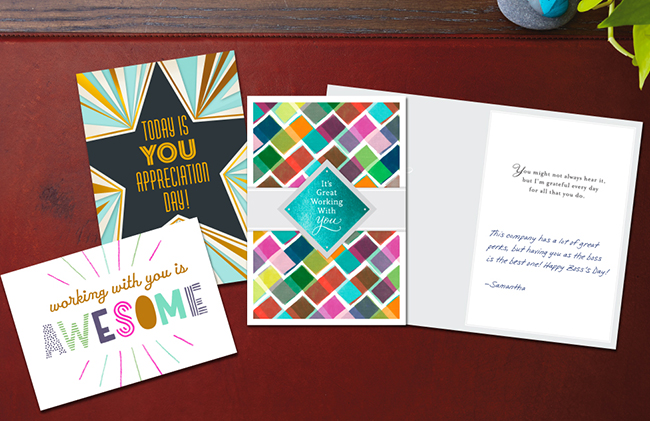From shining foils to premium papers, sophisticated to quirky designs, Hallmark has recognition cards made to motivate.