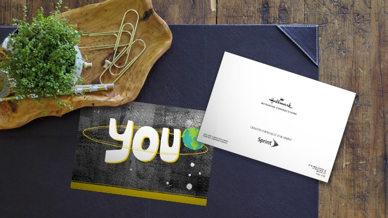 Sprint partnered with Hallmark Business Connections to create a branded card for a customer appreciation campaign.