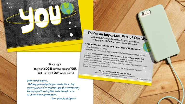 Sprint utilized Hallmark greeting cards to send an important message to its customers.
