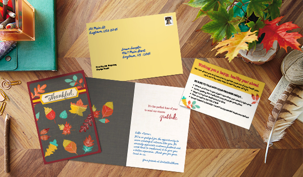 Health insurance providers who mail Hallmark cards to their members report that 75% of members feel more connected.