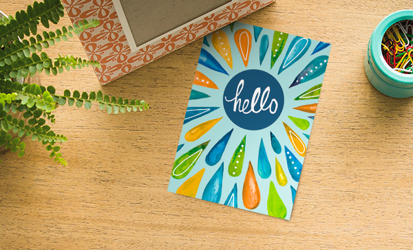 A splashy hello card keeps your Medicare Advantage members engaged and enrolled.
