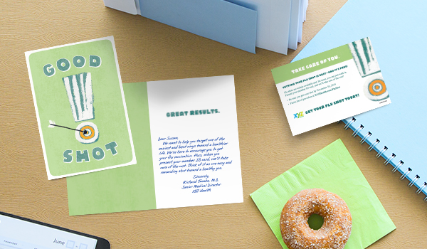 Encourage healthy behaviors in your health plan members by including information in a Hallmark card.