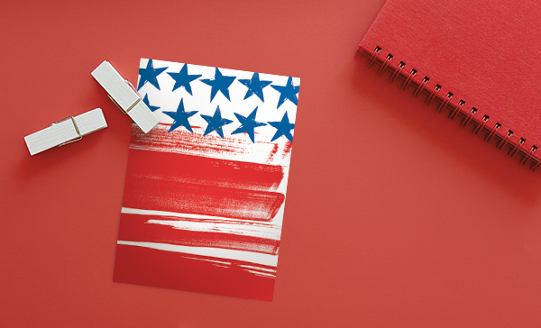 Thank your customers that served in the military with a patriotic card and make a big impression.